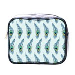 Background Of Beautiful Peacock Feathers Mini Toiletries Bags