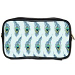 Background Of Beautiful Peacock Feathers Toiletries Bags 2-Side