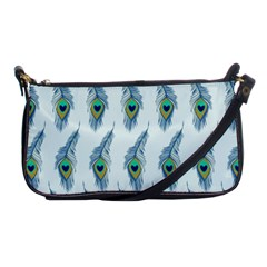 Background Of Beautiful Peacock Feathers Shoulder Clutch Bags by Nexatart