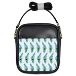 Background Of Beautiful Peacock Feathers Girls Sling Bags