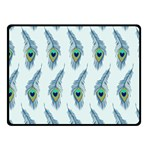 Background Of Beautiful Peacock Feathers Fleece Blanket (Small)