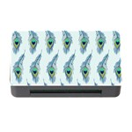 Background Of Beautiful Peacock Feathers Memory Card Reader with CF
