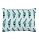 Background Of Beautiful Peacock Feathers Pillow Case (Two Sides)