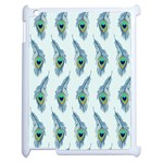 Background Of Beautiful Peacock Feathers Apple iPad 2 Case (White)