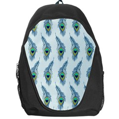 Background Of Beautiful Peacock Feathers Backpack Bag