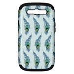 Background Of Beautiful Peacock Feathers Samsung Galaxy S III Hardshell Case (PC+Silicone)