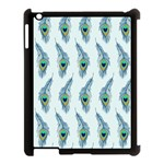 Background Of Beautiful Peacock Feathers Apple iPad 3/4 Case (Black)