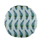 Background Of Beautiful Peacock Feathers Standard 15  Premium Round Cushions