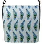 Background Of Beautiful Peacock Feathers Flap Messenger Bag (S)