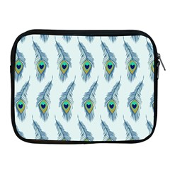 Background Of Beautiful Peacock Feathers Apple Ipad 2/3/4 Zipper Cases