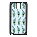 Background Of Beautiful Peacock Feathers Samsung Galaxy Note 3 N9005 Case (Black)