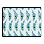 Background Of Beautiful Peacock Feathers Double Sided Fleece Blanket (Small)