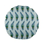 Background Of Beautiful Peacock Feathers Standard 15  Premium Flano Round Cushions