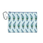 Background Of Beautiful Peacock Feathers Canvas Cosmetic Bag (M)