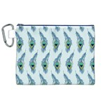 Background Of Beautiful Peacock Feathers Canvas Cosmetic Bag (XL)