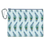 Background Of Beautiful Peacock Feathers Canvas Cosmetic Bag (XXL)