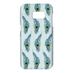 Background Of Beautiful Peacock Feathers Samsung Galaxy S7 Hardshell Case