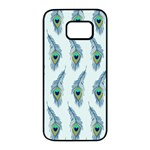 Background Of Beautiful Peacock Feathers Samsung Galaxy S7 edge Black Seamless Case
