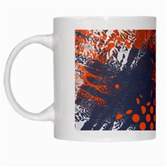 Dark Blue Red And White Messy Background White Mugs by Nexatart