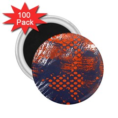 Dark Blue Red And White Messy Background 2 25  Magnets (100 Pack)