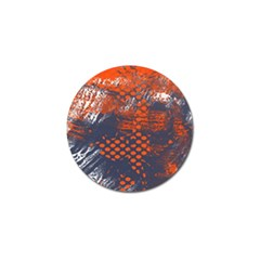 Dark Blue Red And White Messy Background Golf Ball Marker by Nexatart