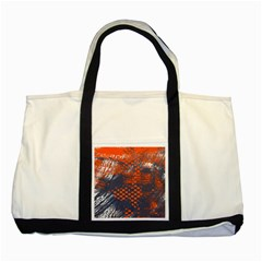 Dark Blue Red And White Messy Background Two Tone Tote Bag by Nexatart