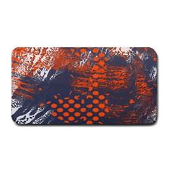 Dark Blue Red And White Messy Background Medium Bar Mats