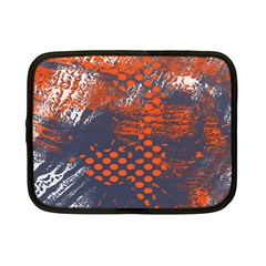Dark Blue Red And White Messy Background Netbook Case (small)  by Nexatart