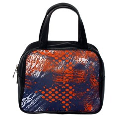 Dark Blue Red And White Messy Background Classic Handbags (one Side) by Nexatart
