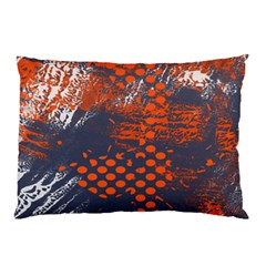Dark Blue Red And White Messy Background Pillow Case