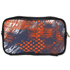 Dark Blue Red And White Messy Background Toiletries Bags 2 Side by Nexatart