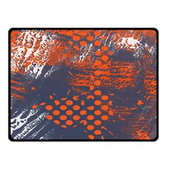 Dark Blue Red And White Messy Background Fleece Blanket (small) by Nexatart