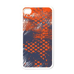Dark Blue Red And White Messy Background Apple Iphone 4 Case (white)