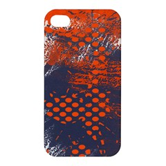 Dark Blue Red And White Messy Background Apple Iphone 4/4s Premium Hardshell Case