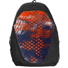 Dark Blue Red And White Messy Background Backpack Bag