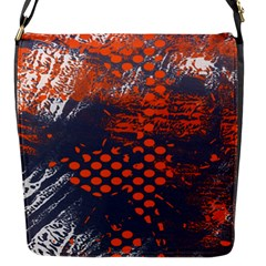 Dark Blue Red And White Messy Background Flap Messenger Bag (s)