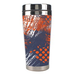 Dark Blue Red And White Messy Background Stainless Steel Travel Tumblers by Nexatart
