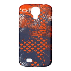 Dark Blue Red And White Messy Background Samsung Galaxy S4 Classic Hardshell Case (pc+silicone) by Nexatart