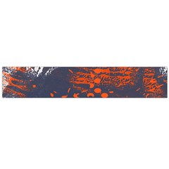 Dark Blue Red And White Messy Background Flano Scarf (large)