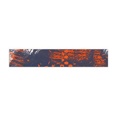 Dark Blue Red And White Messy Background Flano Scarf (mini) by Nexatart