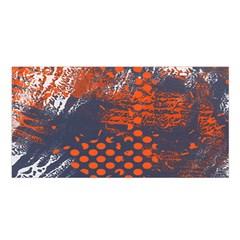 Dark Blue Red And White Messy Background Satin Shawl