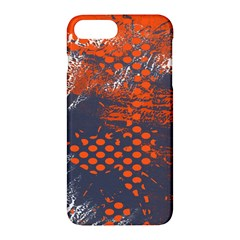 Dark Blue Red And White Messy Background Apple Iphone 7 Plus Hardshell Case by Nexatart
