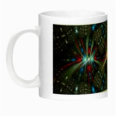Fancy Fractal Pattern Background Accented With Pretty Colors Night Luminous Mugs by Nexatart