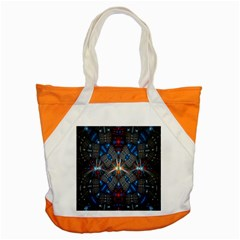 Fancy Fractal Pattern Background Accented With Pretty Colors Accent Tote Bag by Nexatart