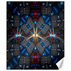 Fancy Fractal Pattern Background Accented With Pretty Colors Canvas 20  X 24