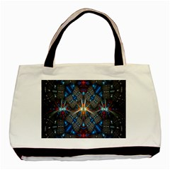 Fancy Fractal Pattern Background Accented With Pretty Colors Basic Tote Bag (two Sides) by Nexatart