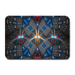 Fancy Fractal Pattern Background Accented With Pretty Colors Plate Mats by Nexatart