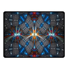 Fancy Fractal Pattern Background Accented With Pretty Colors Fleece Blanket (small)