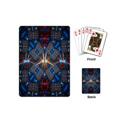 Fancy Fractal Pattern Background Accented With Pretty Colors Playing Cards (mini)  by Nexatart