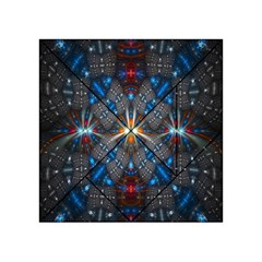 Fancy Fractal Pattern Background Accented With Pretty Colors Acrylic Tangram Puzzle (4  X 4 )
